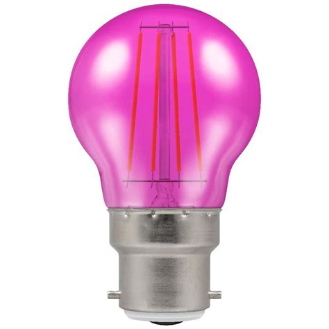 pink light bulbs crompton 9035 4 watt bc b22mm pink harlequin led gls light