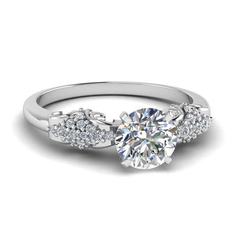 The Engagement Ring by Antique Ring In 14k White Gold Fascinating