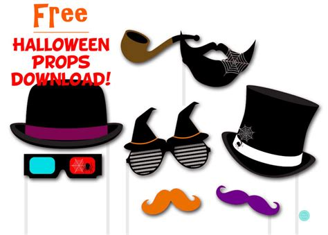 halloween photo booth props printable pdf free halloween photobooth props magical printable