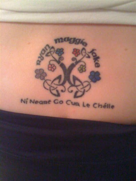 tattoo meaning family strength cad a tharla 237 onn nur a cuireann t 250 gaelachas c 250 ltur