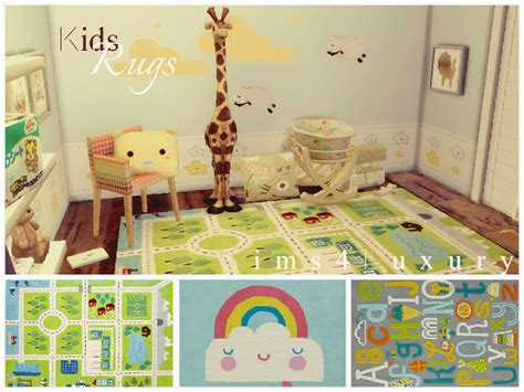 Kitchen And Dining Furniture kids rugs set 2 at sims4 luxury 187 sims 4 updates