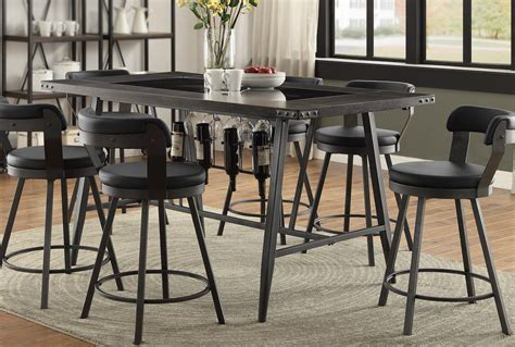 counter height glass dining table metal and glass 5 counter height dining set appert