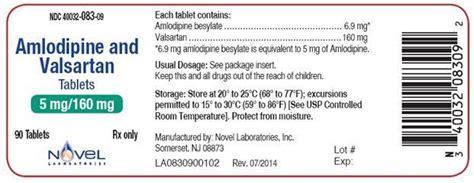Valsartan 160 Mg Novel dailymed amlodipine and valsartan amlodipine and