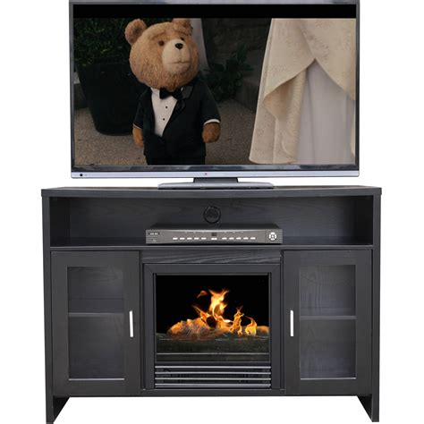 Barn Door Tv Stand Walmart Whalen Media Fireplace For Tvs Up To 65 Quot Rustic Brown