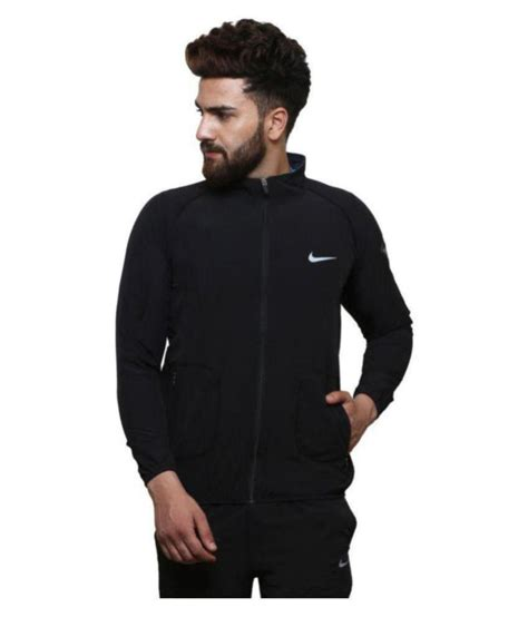 Jaket Nike Black nike black polyester terry jacket buy nike black