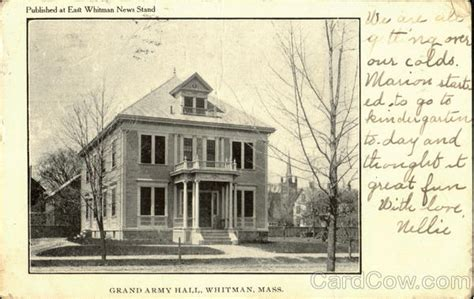 Whitman Post Office by Grand Army Whitman Ma