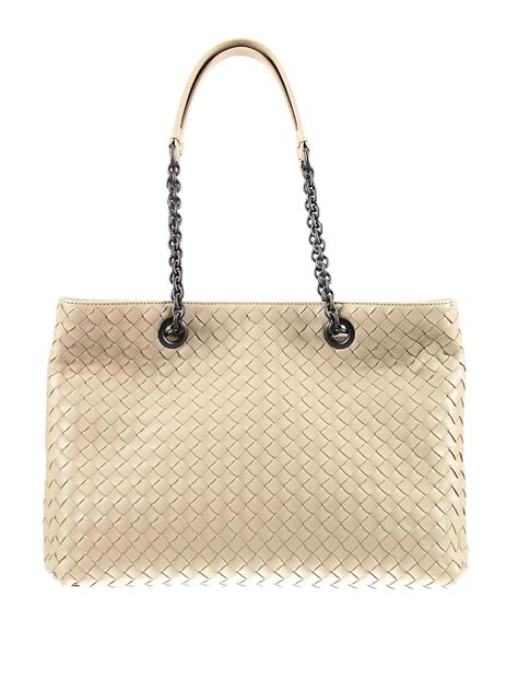 Bottega Veneta Medium Canvas Handbag by Intrecciato Nappa Medium Tote By Bottega Veneta Totes
