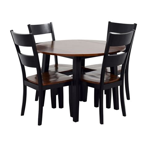 Dining Set With Leaf 45 Bob S Furniture Bob S Furniture Leaf Folding