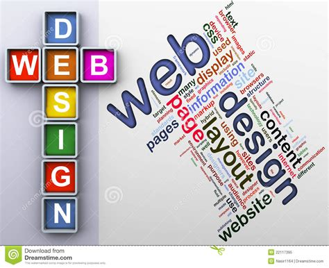 crossword  web design stock illustration illustration