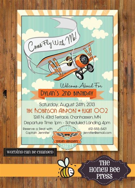 Come With Me Birthday Invite by Airplane Birthday Invitation Come Fly With Me