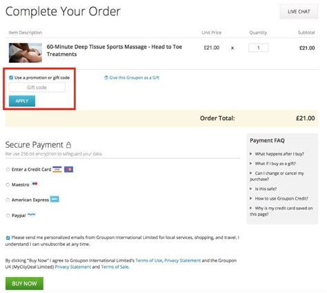 How To Redeem Groupon Gift Card - gift code for groupon gift ftempo