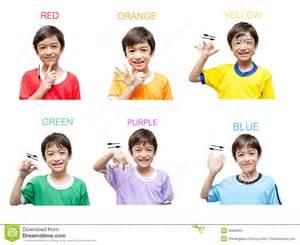 color kid color kid sign language stock photo image 45820051