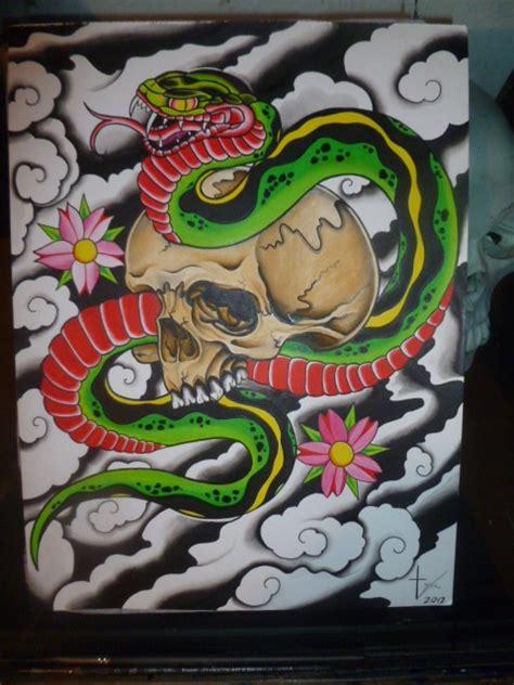 skull and snake final by bishop808 on deviantart