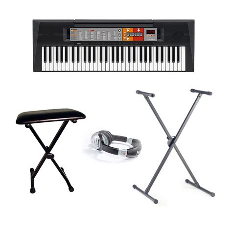 yamaha keyboard stand and bench yamaha psr f50 keyboard inc stand headphones and bench