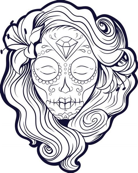 imagenes de calaveras mexicanas para colorear imagenes catrinas calaveras mexicanas colorear 10 catrinas10