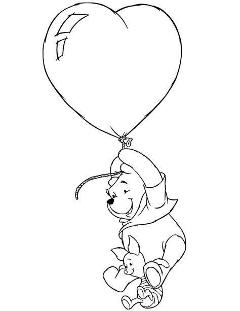 heart balloon coloring page heart balloon drawing