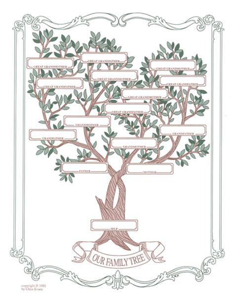 decorative family tree template decorative family tree stevenson genealogy copy center