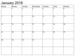Jan 2014 Calendar January 2018 Calendar