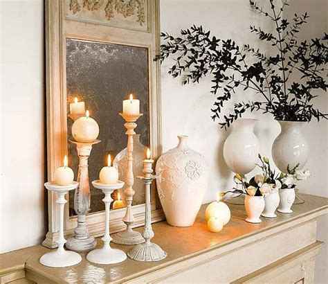 home decor candles mantling the mantle piece