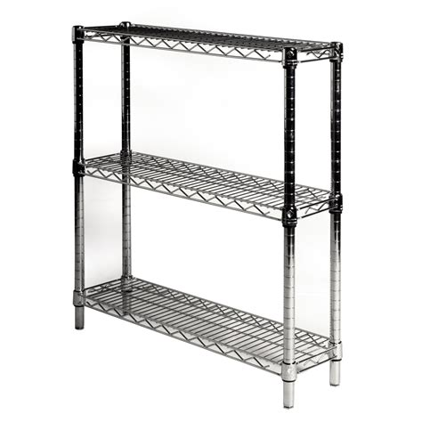 Shelf Depth by 8 Quot Depth Wire Shelving Unit With 3 Shelves Shelving Inc
