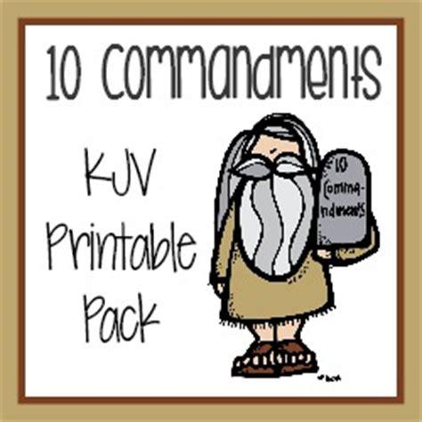 10 Commandments Kjv Printable