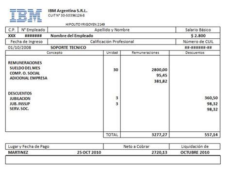 recibo de sueldo provincia de corrientes aclaraci 243 n sobre la propuesta de acuerdo presentada a ibm