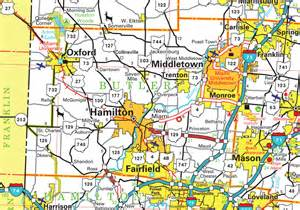 Butler Ohio Map by Gallery For Gt Butler County Map Ohio