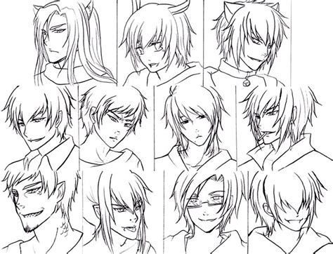 anime hairstyles pinterest anime hairstyles for guys 486963 jpg 800 215 613 drawing