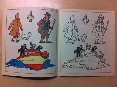 Tintin Set 6 Non Ori tintin complete set of 12 coloring booklets 1977