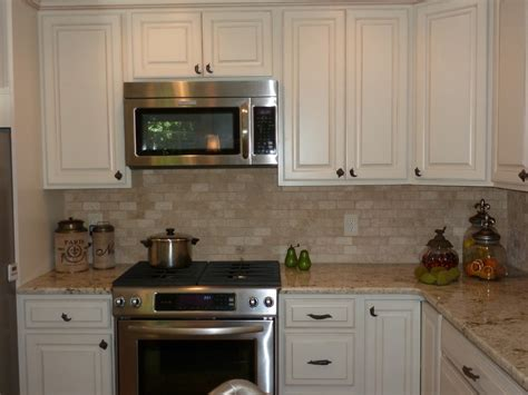 kitchen travertine backsplash travertine backsplash kitchen traditional with ge slate brass kitchen hardware