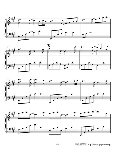 湖南米粉 piano music sheet starry sky