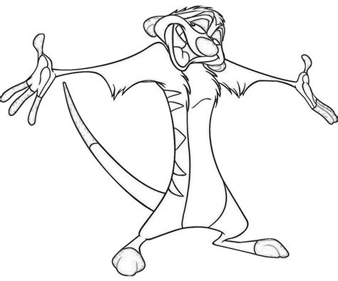 free coloring pages of the lion king timon