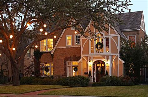 a 1920s tudor decorated for