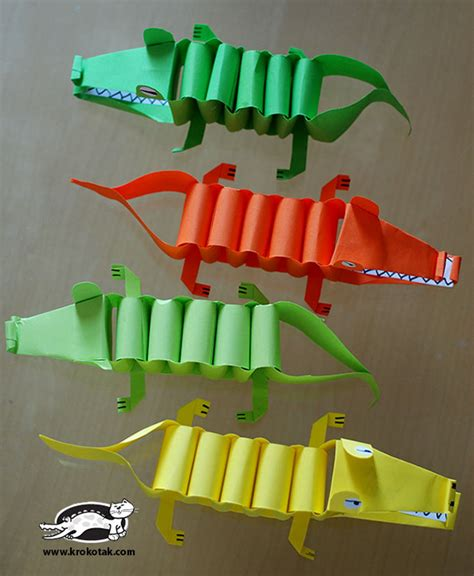 How To Make A Paper Crocodile - krokotak paper alligator