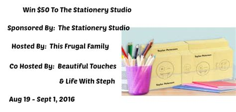 Stationery Giveaway - this frugal family one big happy family being frugal
