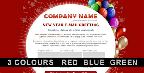 new year 2016 greetings email 15 trendy email newsletter templates to send new year