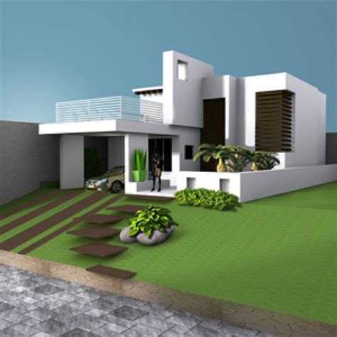 house villa residence building 3d model max