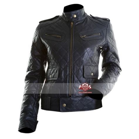 Quilted Leather Jacket Womens by Black Quilted Motorcycle Leather Jacket