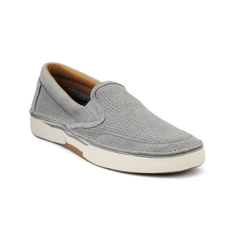 top sider loafers sperry top sider largo perforated loafers in gray for