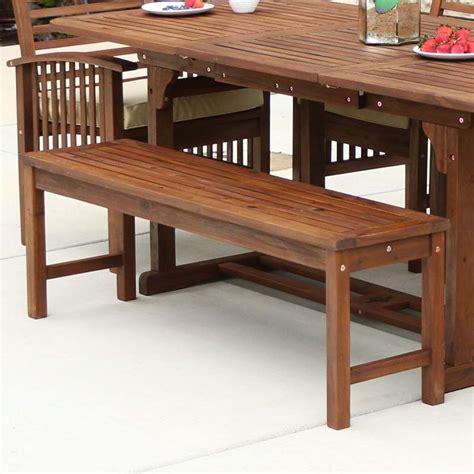 bench walker walker edison acacia wood patio bench dark brown owb7sdb