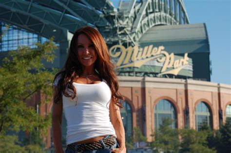 hot chick at brewers game front row amy brewers tickets for sale