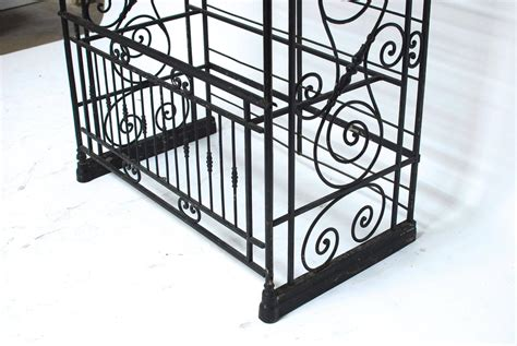Wrought Iron Bakers Rack by Large Wrought Iron Bakers Rack For Sale At 1stdibs