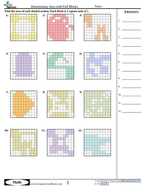 pattern rule for perimeters 252 best images about area and perimeter on pinterest