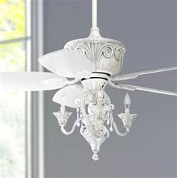 White Ceiling Fan With Chandelier Light 44 Quot Casa Deville Antique White Ceiling Fan With Light