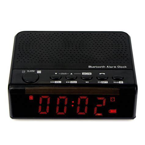 portable bluetooth speaker alarm clock fm radio w mp3 player phone call battery ebay