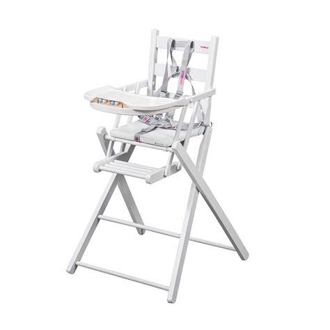 chaise haute combelle pliante chaise haute pliante laqu 233 blanc combelle