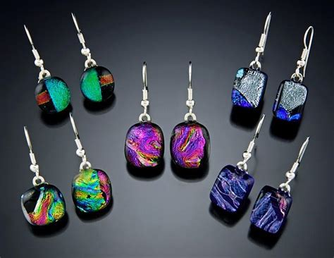 how to make dichroic glass jewelry at home the funky monkey nglassworks beautiful dichroic glass
