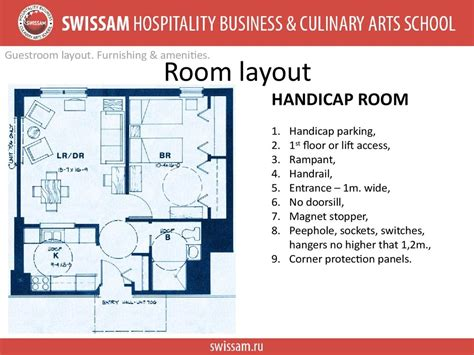 layout of guest room ppt accomodation operations room cleaning sequence and