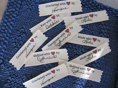 Handmade By Labels Personalised - signature personalized sew in labels custom crochet labels