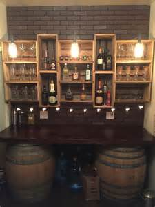 Bar Shelving Ideas 25 Best Ideas About Crate Shelving On Wooden